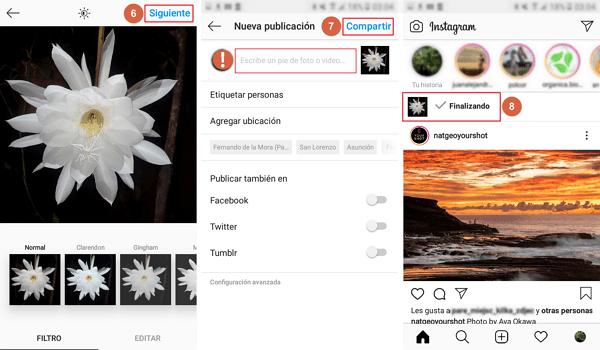 subir fotos a instagram desde el telefono