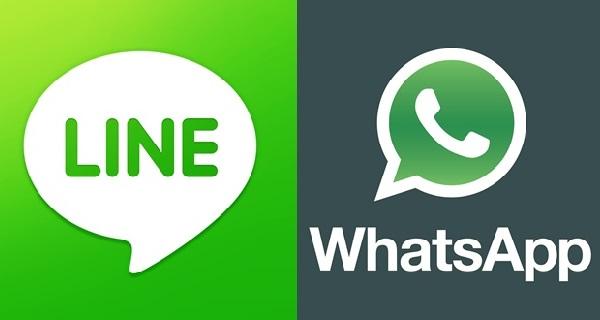 line whatsapp redes