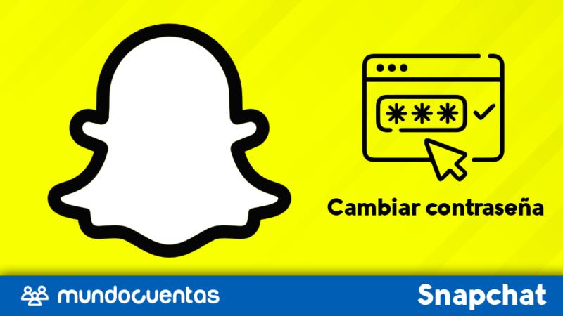 Cambiar contraseña de Snapchat