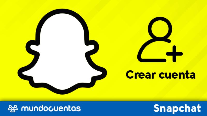 Crear cuenta o registrarse en Snapchat