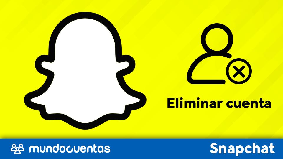 Borrar cuenta de Snapchat.