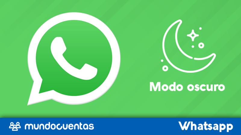 Modo oscuro o tema oscuro en WhatsApp