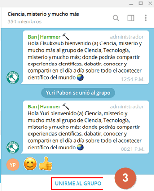 Cómo buscar grupos en Telegram paso 3