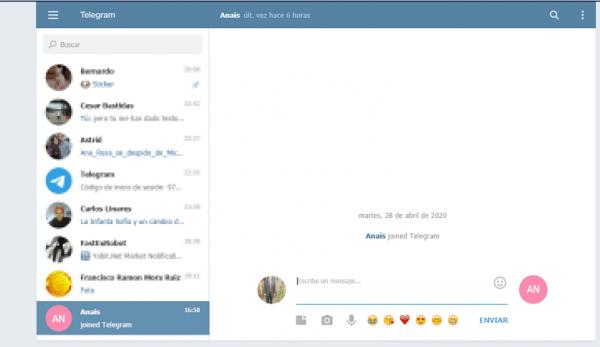 Cómo usar Telegram Web paso 6
