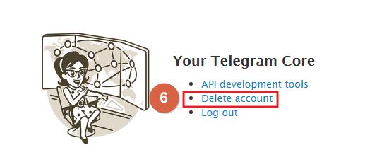 Eliminar cuenta de Telegram desde el PC paso 6