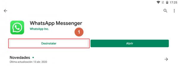 Recuperar mensajes restaurando copia de seguridad Android Paso 1
