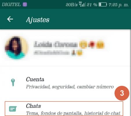 activar modo oscuro en whatsapp paso 3