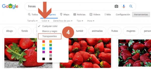 buscar imagenes con fondo transparente paso 4
