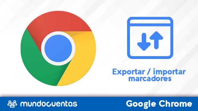 Exportar / importar marcadores de Chrome