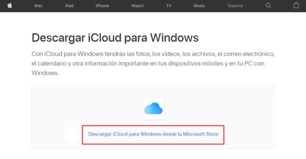 descargar icloud para windows