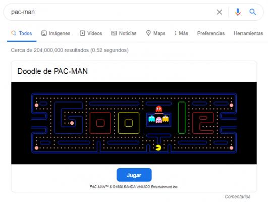 juegos de google - pacman