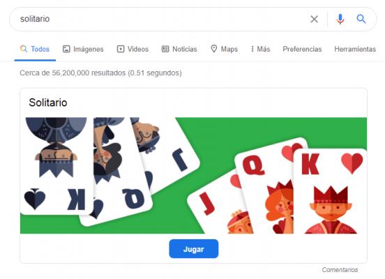 juegos de google - solitario