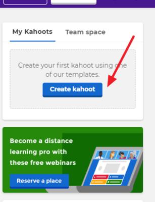 Como crear un kahoot
