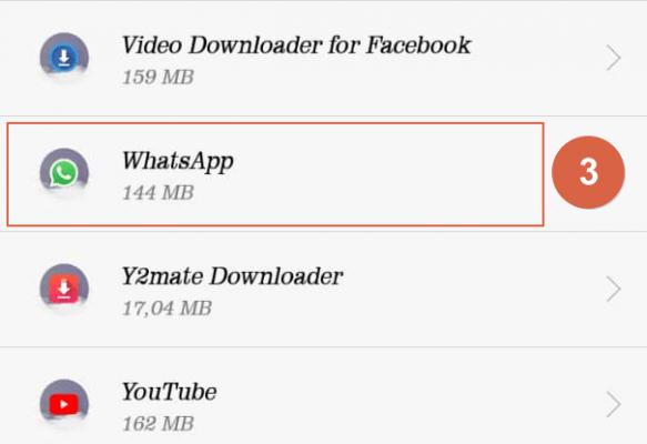 liberar espacio en whatsapp paso 3