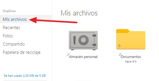 como cargar archivos a onedrive