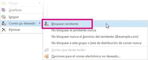 Cómo bloquear a un remitente en Hotmail