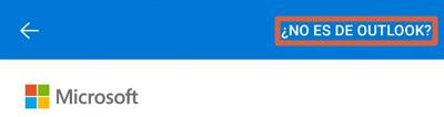 Cómo configurar un correo de empresa en Outlook desde el dispositivo móvil paso 4