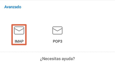 Cómo configurar un correo de empresa en Outlook desde el dispositivo móvil paso 6