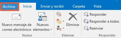 Cómo configurar un correo de empresa en Outlook desde la aplicacion en PC paso 1