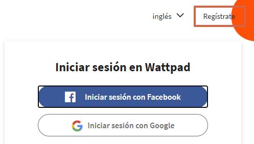 Cómo crear una cuenta en Wattpad paso 2