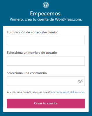 Crear un sitio en wordpress