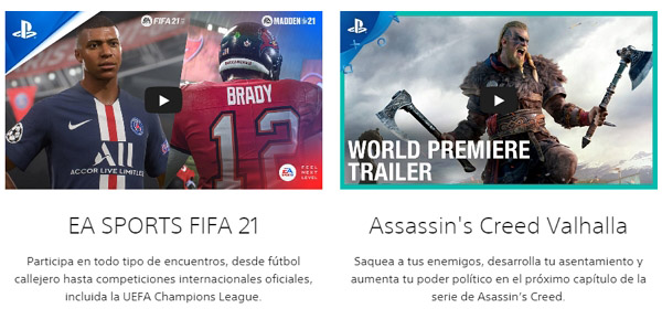 Juegos disponibles para PS4 en PSN