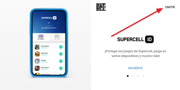 Crear cuenta de supercell ID