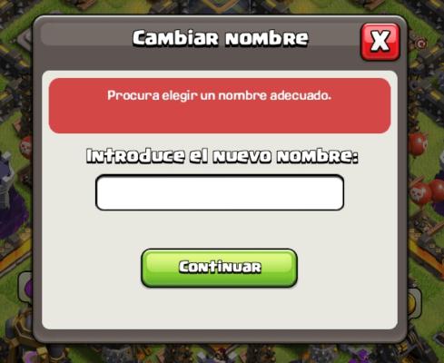 cambiar nombre de cuenta en clash of clans 2