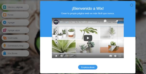 como crear un sitio web en wix