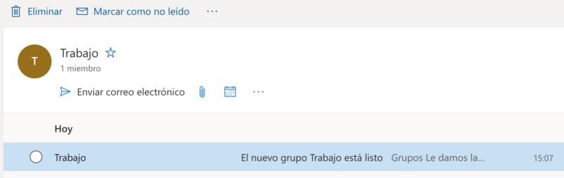 crear una lista de contactos en Outlook