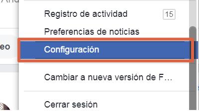 Activar o desactivar la función para tener seguidores en Facebook paso 2