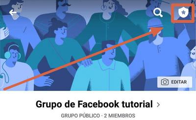 Archivar grupo de facebook desde el móvil paso 1