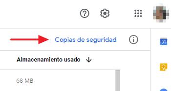 Cómo abrir una copia de seguridad de Google Drive desde el navegador paso 2