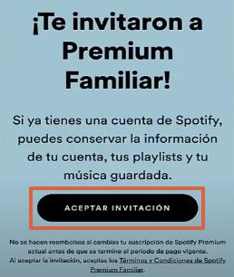 Cómo agregar a un miembro en Spotify Familiar paso 1