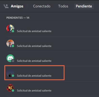 Cómo agregar amigos en Discord haciendo clic derecho sobre la imagen de perfil paso 7