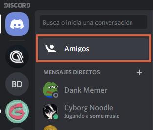 Cómo agregar amigos en Discord utilizando nombre de usuario y DiscordTag paso 1