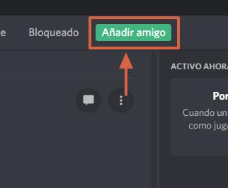 Cómo agregar amigos en Discord utilizando nombre de usuario y DiscordTag paso 2