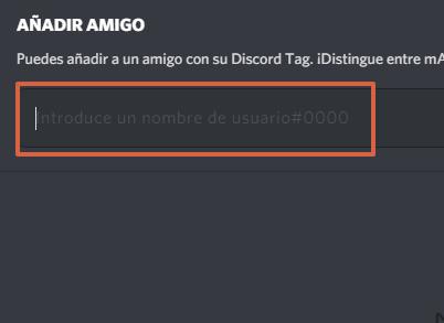 Cómo agregar amigos en Discord utilizando nombre de usuario y DiscordTag paso 3