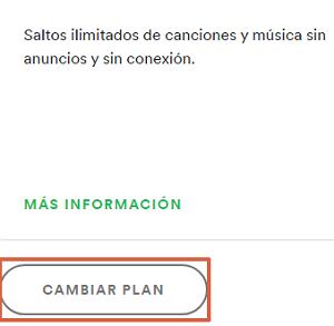 Cómo cambiar el plan de Spotify paso 3.