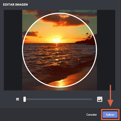 Cómo cambiar foto de perfil en Discord paso 6