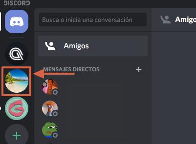 Cómo cambiar la foto de perfil de un servidor en Discord paso 1