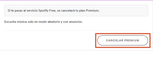 Cómo cancelar Spotify Premium paso 3