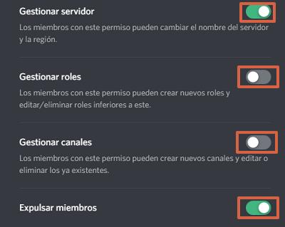 Cómo crear roles en Discord paso 8