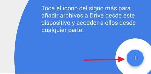Cómo crear una carpeta en Google Drive desde el móvil paso 1
