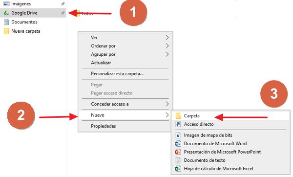 Cómo crear una carpeta en Google Drive desde la PC paso 1, 2, 3