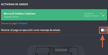 Cómo desactivar la actividad de juegos en Discord paso 3