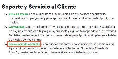 Cómo eliminar la cuenta en Spotify paso 3