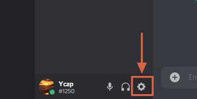 Cómo eliminar un estado de juego en Discord paso 1