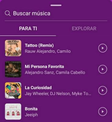 Cómo poner música en Instagram paso 6