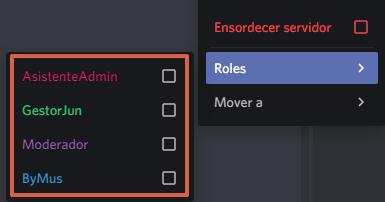 Cómo poner roles en Discord haciendo clic derecho en el nombre de usuario paso 4